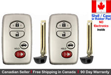 2 New Replacement Keyless Key Fob For TOYOTA PROXIMITY REMOTE Case - Shell Only
