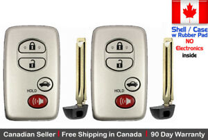 2x New Replacement Keyless Key Fob For TOYOTA PROXIMITY REMOTE Shell / Case Only