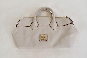 Dooney & Bourke 1975 Gray Embossed Pebbled Leather Handbag W/Zippered Closure