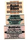 Reichsbanknoten 3 Scheine. Los 1657. schoeniger-notgeld