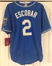 ALCIDES ESCOBAR majestic jersey 52 k.c. royals NEW nwt stitched sewn KANSAS CITY