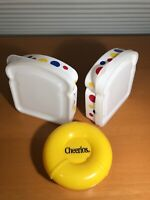 Vintage Children's Lunch Containers, 2 Wonder Bread 1 Cheerios, A. Aronson Clean