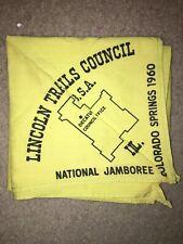 Boy Scout BSA 1960 Lincoln Trails Illinois Council National Jamboree Neckerchief