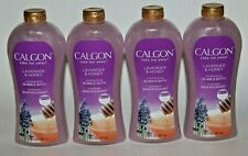 LOT (4) CALGON LAVENDER & HONEY BUBBLE BATH 30 FL OZ TAKE ME AWAY MOISTURIZING