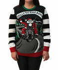 Ugly Christmas Sweater Plus Size Women's Light Up Jolly To The BoneSweatshirt-S