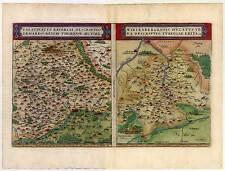 Bayern + Baden Württemberg Karte-Map Ortelius 1580