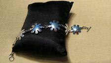 Sterling Silver Daisy/Flowers Bracelet 7 inch 5 Grams