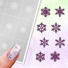Aerógrafo + NAIL ART Plantillas ws01 Estrella De Nieve Invierno copos