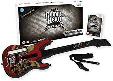 Guitar Hero Metallica with Guitar Controller Nintendo WII Video Game UK Release