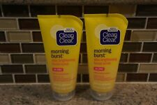 2 Pack  CLEAN&CLEAR Morning Burst Skin Brightening Facial Scrub 5 oz Each