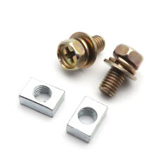 Motorcycle Bike Scooter ATV Battery Terminal Nut and Bolt Kit M5x10mm Universal