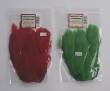 Wapsi Salmon Fly Hen Neck Cape Red Green Bulk Sale New
