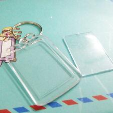 10x Custom Personalised Insert Photo Acrylic Blank Key Keyrings Keychain New