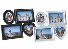 Multi Display Photo Frames Family Love Friends Collage Aperture Hanging Picture Black 802009 Holds 4 Pictures
