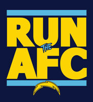 Los Angeles Chargers RUN the AFC shirt NFL Playoffs Superbowl Super Bowl t-shirt