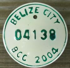 BELIZE CITY, BELIZE Motorcycle License Plate Expired 2004 - 04138