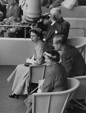 Queen Elizabeth II and Prince Philip Ellerslie Racecourse 1954 OLD PHOTO