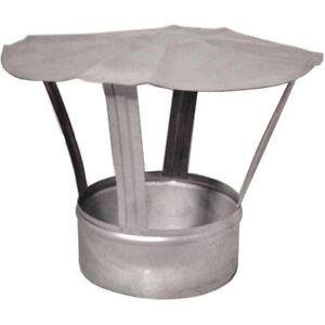 Metal Chimney Flue Liner Cowl Galvanised Steel Cap Stove Pipe Rain Cover