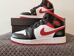 Nike Air Jordan 1 Mid 'Gym Red' - UK Size 5 - DJ4695 122 - Black/White/Red