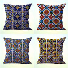 US Seller- 4pcs cushion covers Mexican Spanish talavera decorative pillows