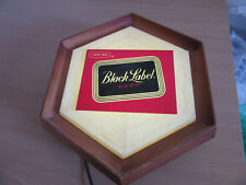 Vintage Carling Black Label lighted Beer hexagonal plastic sign