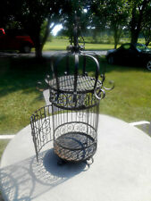 Awesome X- Large Antique Heavy Decorative Wrought Iron Bird Cage or Decor