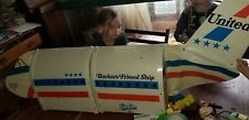 Huge Vintage Barbie Doll FriendShip Airplane United Airlines 1970'S Mattel Case