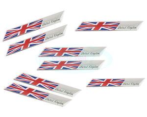 2pcs England flag Decal Emblem Badge Sticker For Unite Kingdom UK Mini Car