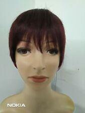 Brazilian pixie cut Remy human hair wig in Auburn colour.99j