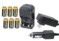 Ultimate Arms Gear CR123A 3V 1200 mAh Lithium Li-Ion Rechargeable Battery Kit