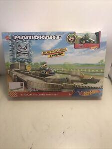 Hot Wheels MARIO KART Thwomp Ruins Track Set w/ Luigi - Factory Sealed!