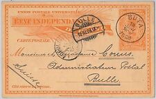 Palm trees - CONGO -  POSTAL STATIONERY CARD to SWITZERLAND 1908- H & G # 17