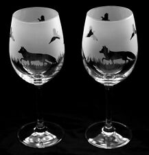 More details for foxes gift wine glasses (with pheasant countryside scene)  boxed