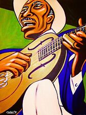 SON HOUSE PRINT poster father of the delta folk blues cd national steel guitar