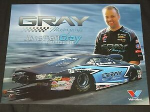 "2014 JONATHAN GRAY ""GRAY MOTORSPOTS"" VER. 2 CHEVY CAMARO PRO STOCK NHRA POSTCARD"