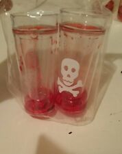 Skull shot glass set with fake blood in them. New in package