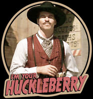 """90's Western Classic Tombstone Doc Holliday """"I'm Your Huckleberry"""" custom tee"""