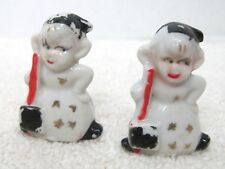 Pair Vintage Pixie Snowman Christmas Tabel Placecard Holders Place Card T92