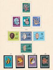 TOKELAU ISLANDS ^^^^1973-74   MNH+ hinged    sets    on page $$@ sc249xxbtok