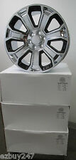 "22"" NEW GMC YUKON SIERRA CHEVY SILVERADO FACTORY STYLE CHROME BLACK WHEELS 5660"