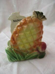 Vintage Japan Ucagco ceramic Napkin Holder Pineapples (AR)