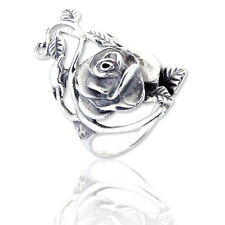 New Sterling Silver 925 Rose Flower Ring in Gift Box Size O