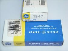 GE NOS #47, #1847 bulb, brass bases, longlife version of #47 lamps, box of 10