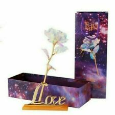 Eternal Gold Dipped LED Rose Adore Infinity Rose Romantic Crystal New