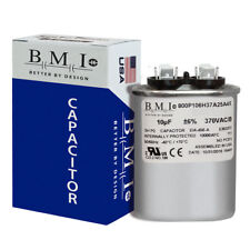 BMI Oval Run Capacitor 10 uf MFD 370 volt vac 50/60 hz replaces GE CAP011003O
