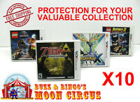 10x NINTENDO 3DS CIB GAME BOX - CLEAR PROTECTIVE BOX PROTECTOR SLEEVE CASE