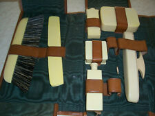 Antique Men'S Travel Grooming Kit - Leather Case - Henry Likly Co.