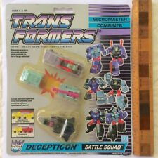 G1 MICROMASTERS TRANSFORMERS COMBINERS BATTLE SQUAD ACTION FIGURES HASBRO VGC!