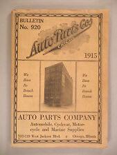 Auto Parts Co. CATALOG 1915 ~~ cyclecar, motorcycle, marine ~~ Chicago