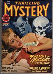Thrilling Mystery Fall 1944 Belarski Skull Vampire Cvr, Final Issue